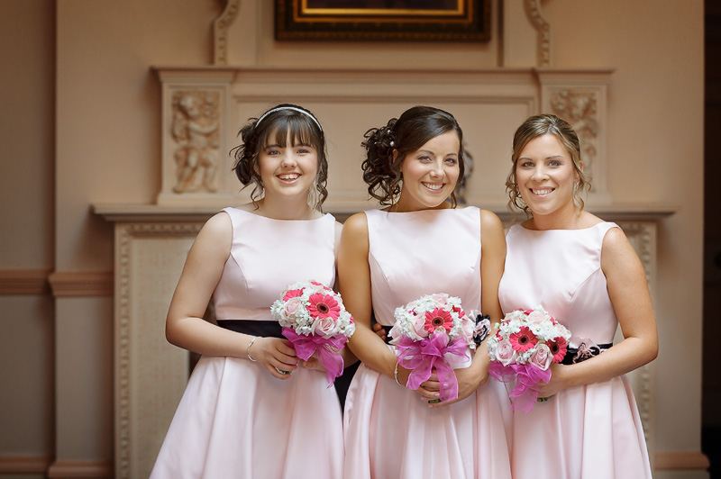 bridesmaids at down hall hertfordshire wedding