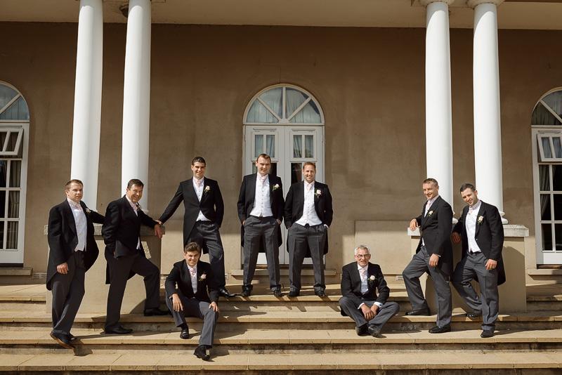 groomsmen at down hall hotel wedding