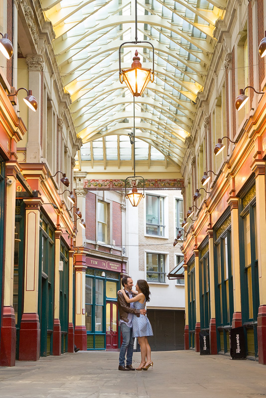 East London: St Dunstan-in-the-East, London Engagement Photography