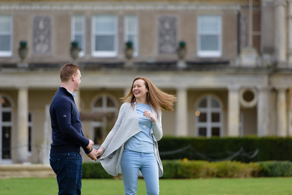 Engagement photoshoot at Down Hall – Emma and Grant