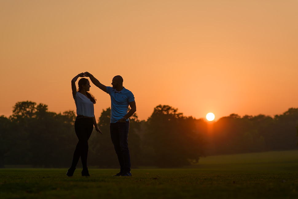 Chelmsford engagement photography sunset