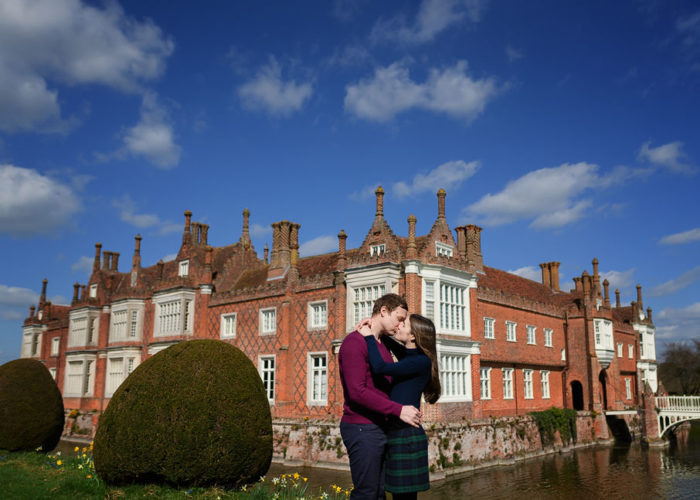 Helmingham Hall Engagement Photography - Kirsty and Chris