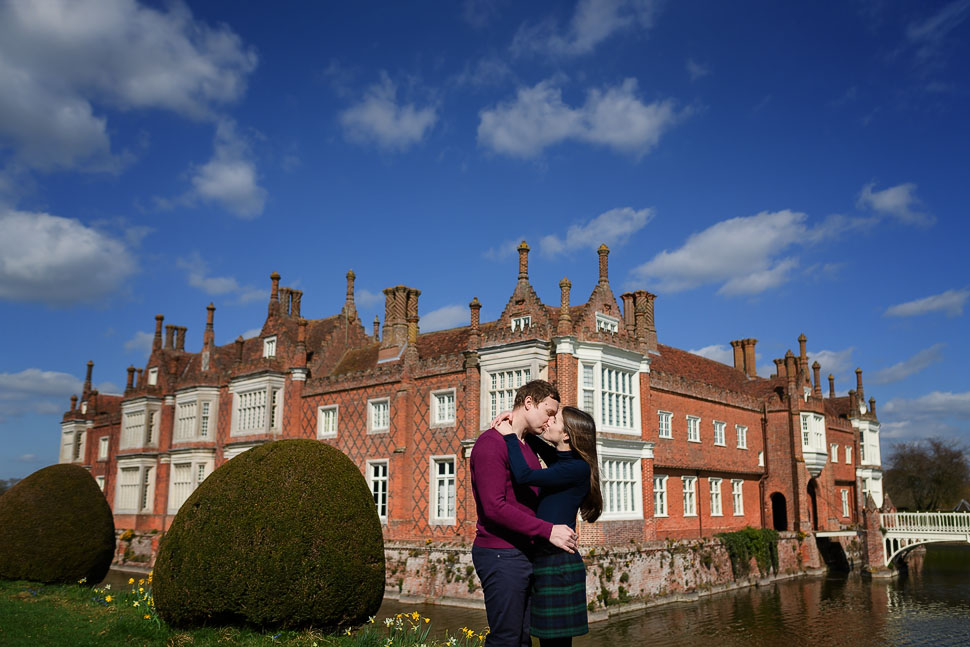 Helmingham Hall Engagement photos