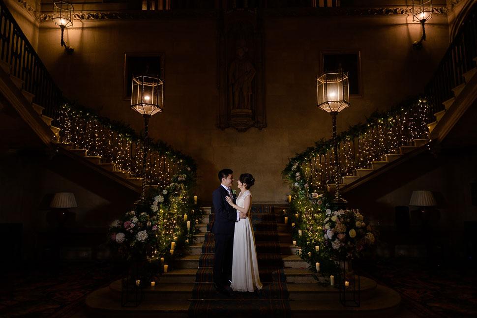 Ashridge House wedding photo staircase