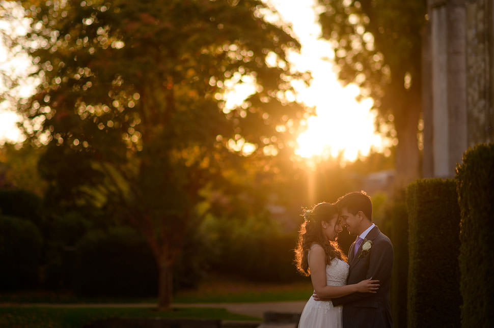 Ashridge House wedding photo sunset