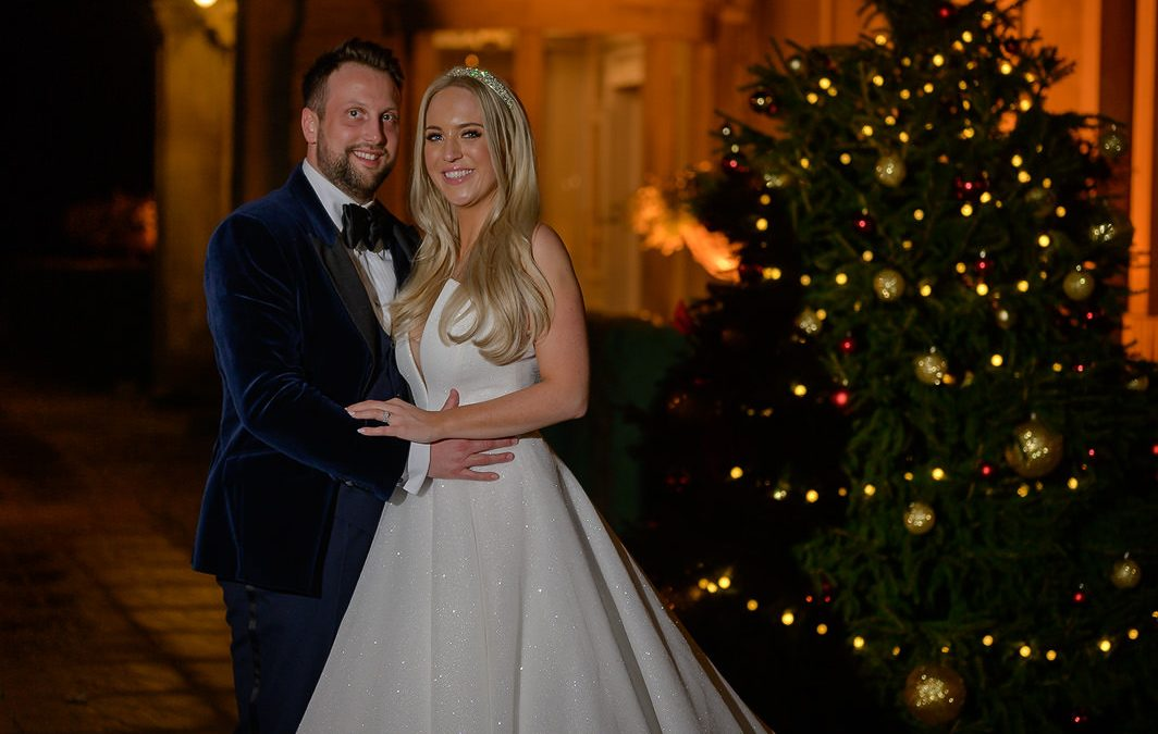 New years eve wedding down hall christmas tree